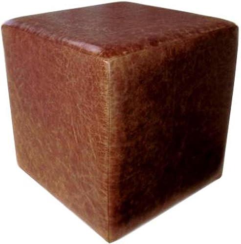 precios al por mayor Footstools2u Footstools2u Footstools2u reposapiés Hecho a Mano de Piel Color marrón Oscuro  punto de venta de la marca