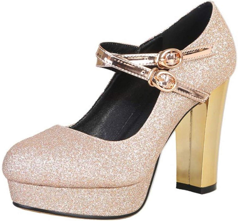 BeiaMina Women shoes Fashion Glitter High Heel Party shoes Platform