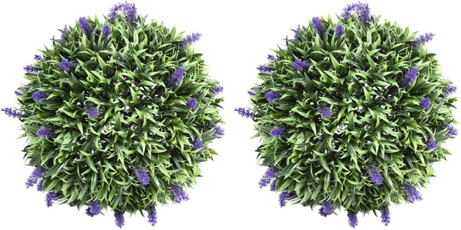 DOITOOL 2pcs Artificial Rare Topiary Plant Fake Max 71% OFF Ball Lavender