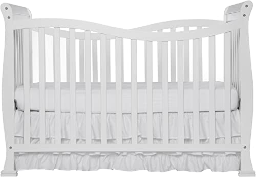 Dream On Me Violet 7 in 1 Convertible Life Style Crib, White, Full Size