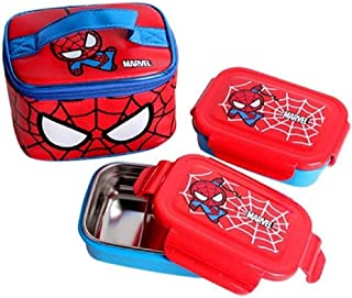 Marble Spidernan Kids Stainless Steel 2-Stage Lunch Box Set