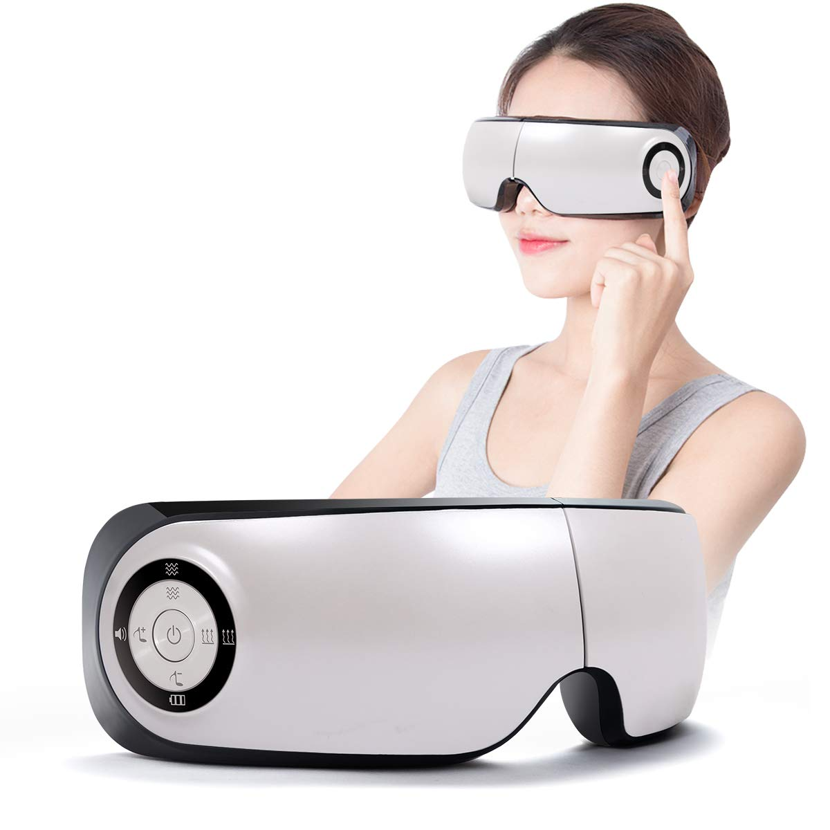 Electric Massager Heat Temple Eyes