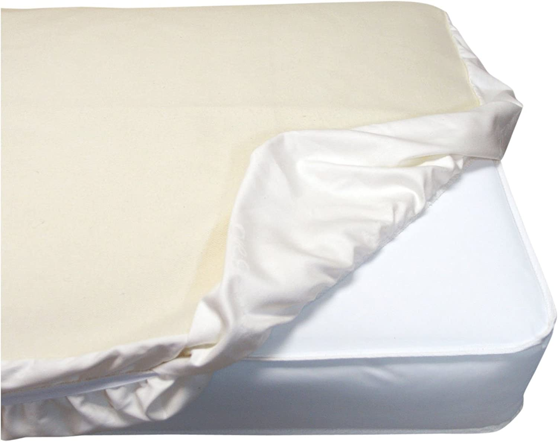 Naturepedic Waterproof Fitted Crib Pad, 28x52