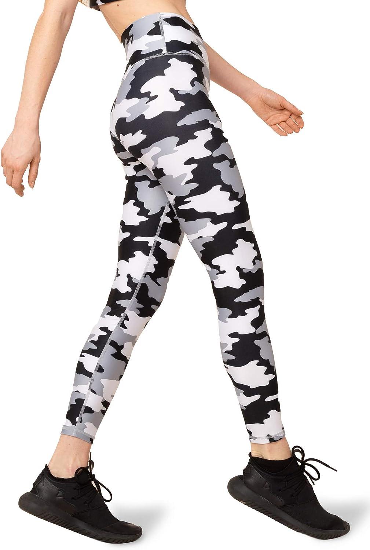 Kyodan Womens Ultra-High Waisted Tummy Control Leggings with Hidden Key Pocket, 25-Inch Inseam