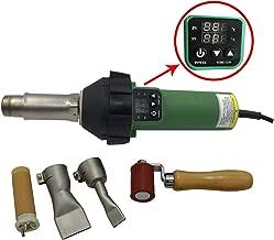 1600W Digitally Controlled Heating Gun Plastic Welding Gun PVC TPO Roofing Welding Hot Air Gun Plastic Flooring Welding Gun (With Roofing kit)