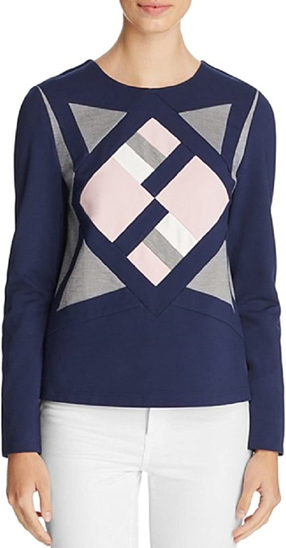 Finity Womens Geometric Scuba Sweater
