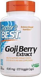 Doctor's Best Goji Berry Extract, Non-GMO, Vegan, Gluten Free, 120 Veggie Caps (DRB-00153)
