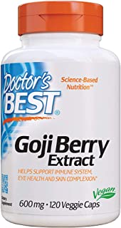 Doctor's Best Goji Berry Extract, Non-GMO, Vegan, Gluten Free, 120 Veggie Caps