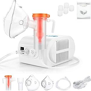 Compresor Silencioso, Inhalador Eléctrico Silencioso con 1 Boquilla y 2 Máscaras para Adultos y Niños