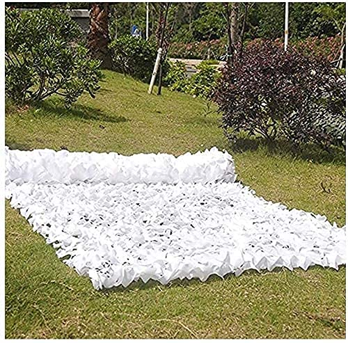 ZHEYANG Sombra Solar Malla de Sombra Camouflage Camping Caza Ocultar Redes de protección Solar Red de Camuflaje Blanco Red de Camuflaje para jardín Ligero Durable Camouflage Model:G0519