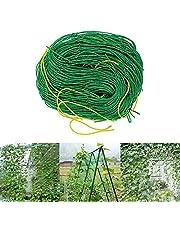 TSLBW Siatka na rośliny 3,6 x 1,8 m kratka ogrodowa do roślin pnących, siatka podpierająca do ogórków, pomidorów, winogron i roślin pnących, rama do siatki ogrodowej