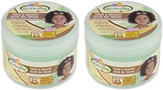 Sofn'Free n'Pretty GroHealthy Thick And Healthy Olive Oil Cream 8.8 oz Pack of 2