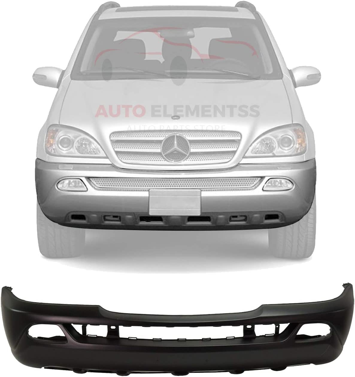 New Front Max 72% OFF Bumper Wholesale Cover Primed Plastic Light Spo With Fog Holes