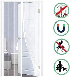 70x190cm GUOGAI Moustiquaire Porte Fenetre Magnetique Brown Moustiquaire Enroulable Rideau Anti Mouche Fermeture Automatique Portes De Balcon Portes Coulissantes 28x75inch