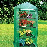 easigear 4 Tier Mini Outdoor Greenhouse with PVC or PE Cover (Greenhouse With PE Cover)