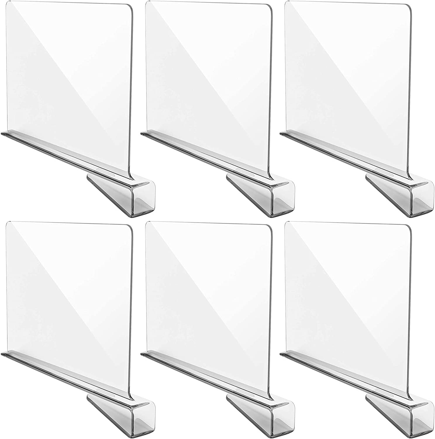 YMHPRIDE 6 Pack Clear Acrylic Shelf Closets Popularity Closet Dividers Safety and trust Sepa