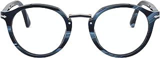 نظارات بيرسول PO 3185 V 1111 أزرق مخطط وجنميتال