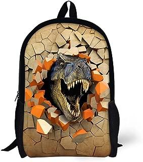 HUGSIDEA Stylish Zoo Animal Kids Books Backpack, dinosaur 1 - Y-CA5191C