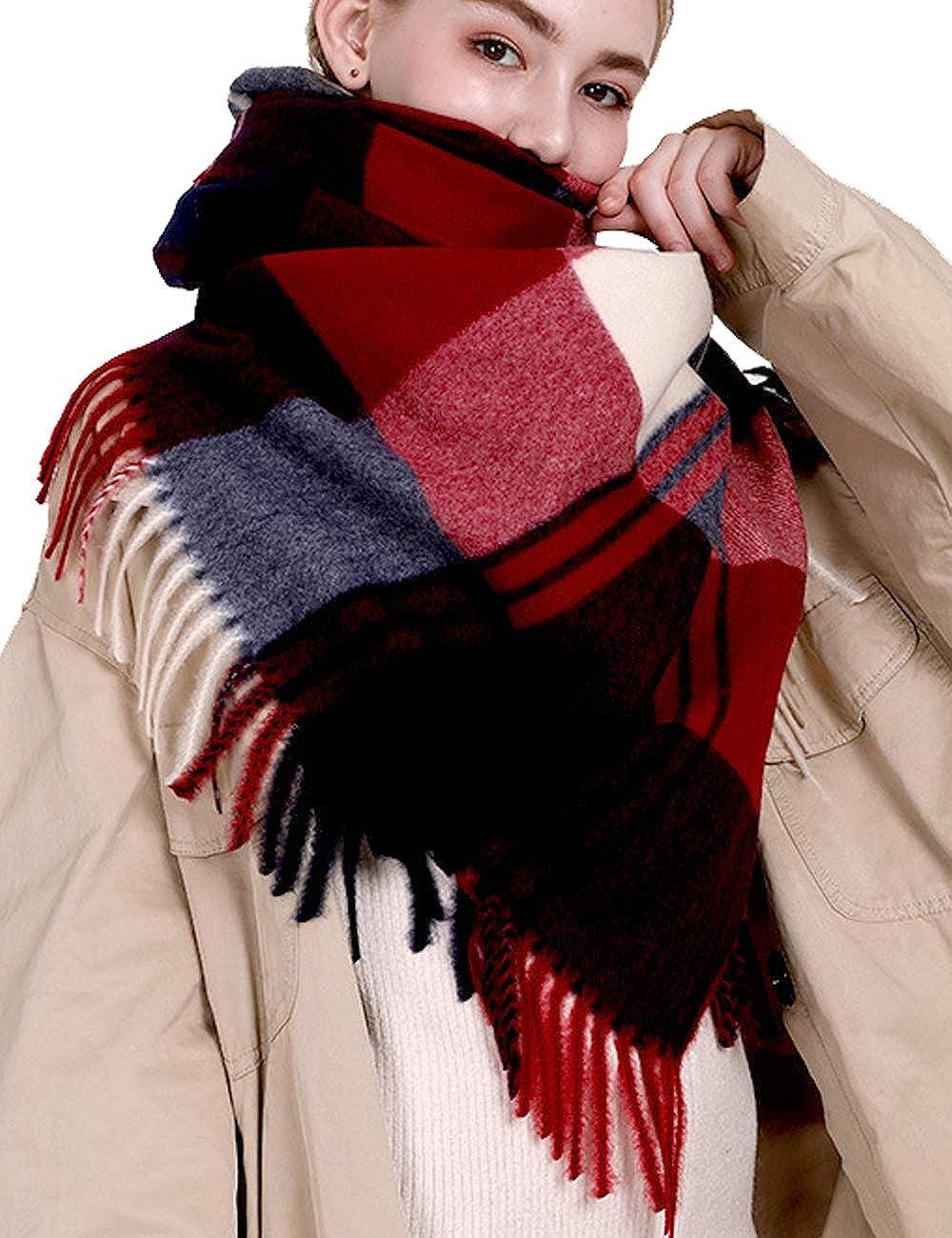 Zoulee New Women Soft Cashmere Tassel Wraps Shawls Stole Scarf Warm Scarf