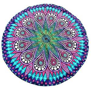Toalla de Playa, Tapiz Hippie con Estampado Redondo, Tiro de Picnic en la Playa, Esterilla de Yoga, Manta de Toalla… | DeHippies.com