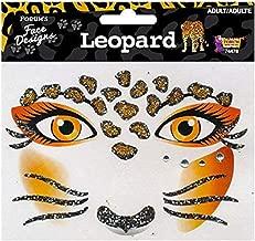 Forum Novelties Face Designs-Leopard, Multi, Standard