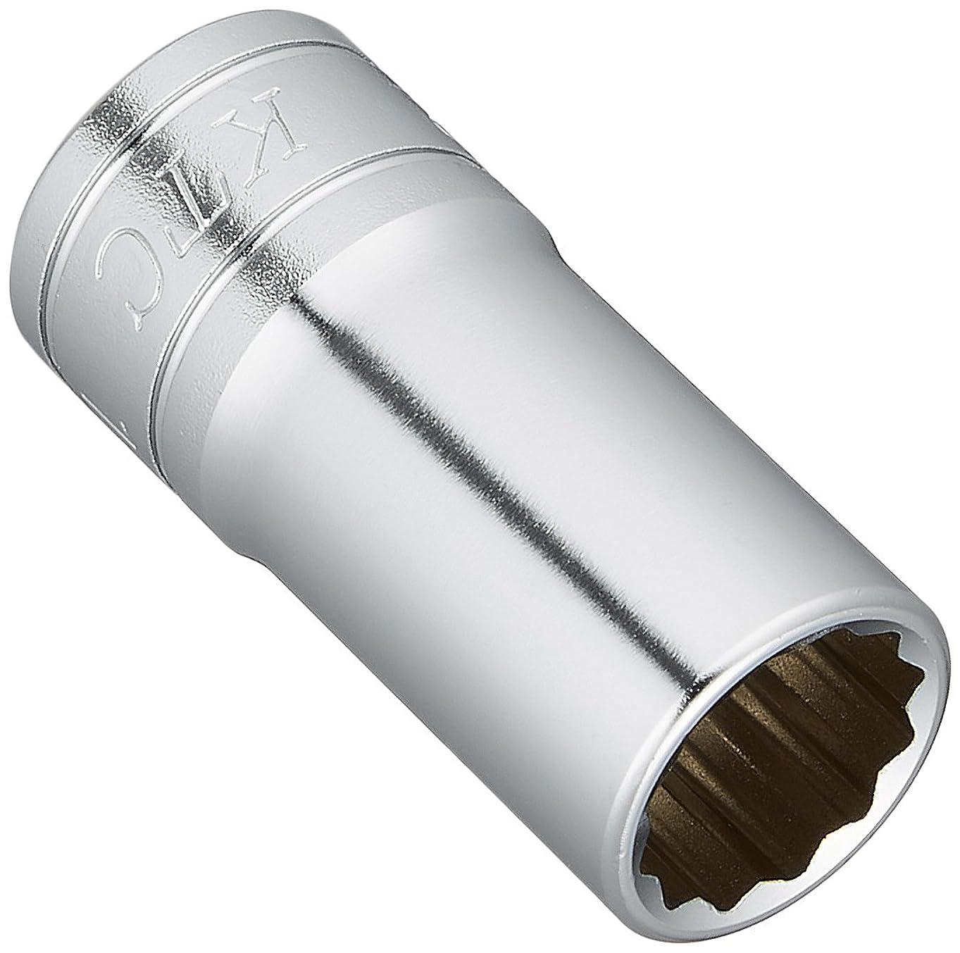 恥水平発明するKTC(ケーテーシー) 9.5mm (3/8インチ) セミディープソケット (十二角) 12mm B3M12W