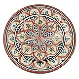 Plato de cerámica terracota pared capacidad étnico marroquí Tunisino 2104211030