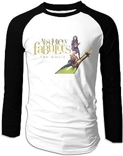 Creamfly Mens Absolutely Fabulous Long Sleeve Raglan Baseball Tshirt