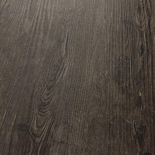 neu.holz Vinyl Laminat ca. 4 m² 'Dark Oak' Bodenbelag Selbstklebend rutschfest 28 Dekor-Dielen für Fußbodenheizung