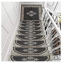 階段パッド階段トレッド階段トレッドステップマットランナーラグカーペットパッド長方形と半円形自己接着性ショートフラフ滑り止め4色4サイズ(色:C-30X85CM、サイズ:5個)