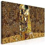 murando Cuadro Mega XXXL Gustav Klimt 160x80 cm Cuadro en Lienzo en Tamano XXL Estampado Grande Gigante Imagen para Montar por uno Mismo Decoración De Pared Impresión DIY Beso Abstracto l-A-0003-ak-e