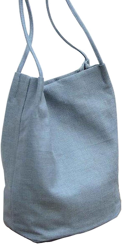 Simple Canvas Shoulder Handbag Fashion Backpack A4