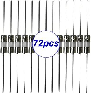 Gebildet 72 pcs 3.6 × 10 mm Fast-Blow Glass Tube Fuse, Quick Blow Car Glass Tube Fuses Assorted Kit 0.5A/1A/1.5A/2A/3A/5A each 12pcs)
