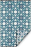 FAB HAB Seville - Mehrfarben- blau (90cm x 150cm)