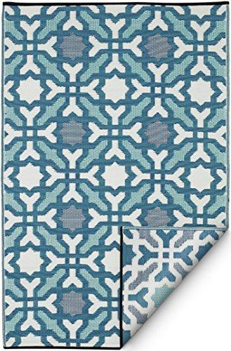 Fab Hab - Seville - meerkleurig - blauw binnen / tapijt (120 cm x 180 cm)