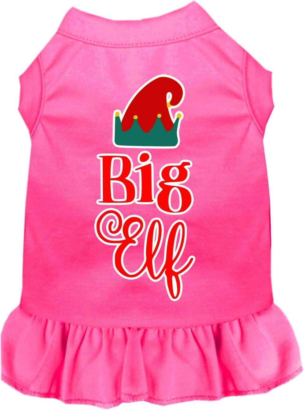 Mirage Pet Oklahoma City Mall Product Big Ranking TOP10 Elf Screen Dog Bright Lg Print Dress Pink