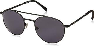 نظارة شمس مستديرة فوسيل للرجال فوس 3069/اس، ام تي تي اسود - 51 مل