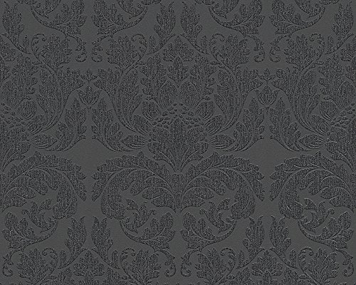 Metropolis by Michalsky Living Vliestapete Soho Tapete neo-barock 10,05 m x 0,53 m metallic schwarz Made in Germany 303965 30396-5