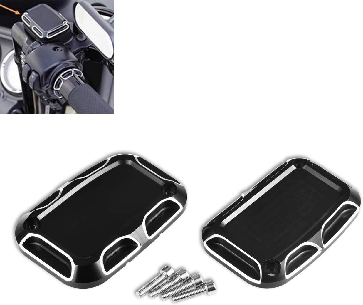 KATUR Motorcycle Brake Master Clutch Black Cylinder A surprise price is realized Covers Max 75% OFF Chrom