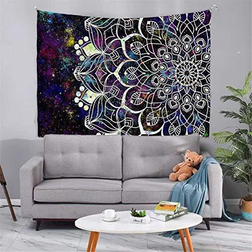 THEYANG Tapestry Tapiz Pared Decoracion Serie Mandala 68 /150x200cm Colgante de Pared Ropa de Cama Dormitorio Decoración Estera de Yoga Alfombras Manta de Playa Tarot Hippie Indio Boho Pavo Real