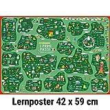 mindmemo Lernposter - I primi passi - Italienisch für Einsteiger - Vokabeln lernen mit Bildern - geniale Lernhilfe - DinA2 PremiumEdition
