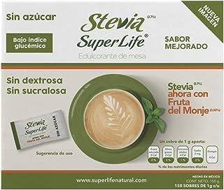 Stevia Super Life® Bio 150 Sobres, Con Fruta del Monje Sin