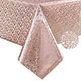YADA Heavy Duty Premium Gold Vinyl Tablecloth,Wipeable Table Cover for Outdoor and Indoor, Used in Kitchen, Dining Room, Picnics and Parties, Water-Proof, Oil-Proof,Fungi-Proof (A, 54''x70'' Inch)