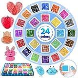 KEELYY 24 Colores Almohadilla Tinta Niño, Tinta para Huellas Dactilares Tinta Dedos Huellas Almohadilla para Sellos, Almohadilla Tinta de Colores para Tinta Sellos Scrapbooking