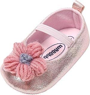 [BAOMABA] 子供靴 ベビーシューズ 幼児の靴 カジュアルシューズ 結婚式 パーティー 出かけ 日常履き 滑り止め 暖かい 履きやすい ソフトソール 弾性バンド 可愛い 花 ファッション ガールズ
