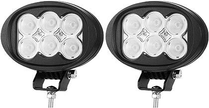 LIGHTFOX Pair 6inch 60W CREE LED Work Light Bar Flood Driving Lamp 4WD Truck Boat 12V 24V 3 Year Warranty