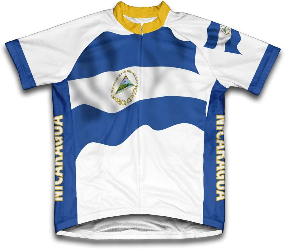 ScudoPro Nicaragua Flag Short Sleeve At the price of surprise for Jersey Spring new work one after another Men Cycling