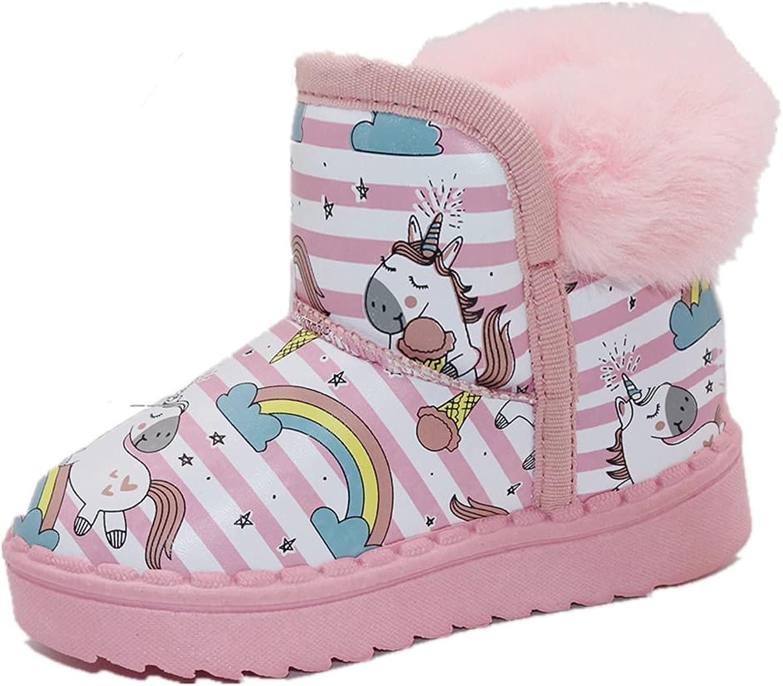Girl's Snow Boots Unicorn Waterproof Winter San Diego Mall Mini Low price Fashion Warm Bo