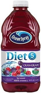 Ocean Spray Diet Juice Drink, Cran-Grape, 64 Ounce Bottle