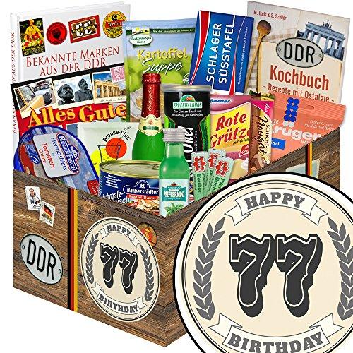 Geschenke zum 77. + DDR Geschenkbox + 77 Geburtstag Geschenke Oma